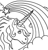 Free Children's Coloring Pages to Print Unicorn | Learning Printable