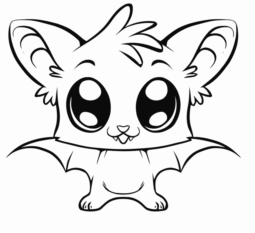 cute animal coloring pages 01