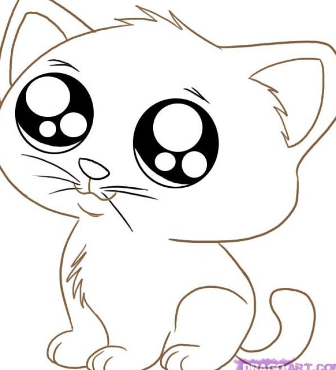 Cutest Animals Coloring Pages : Cute animal coloring pages only