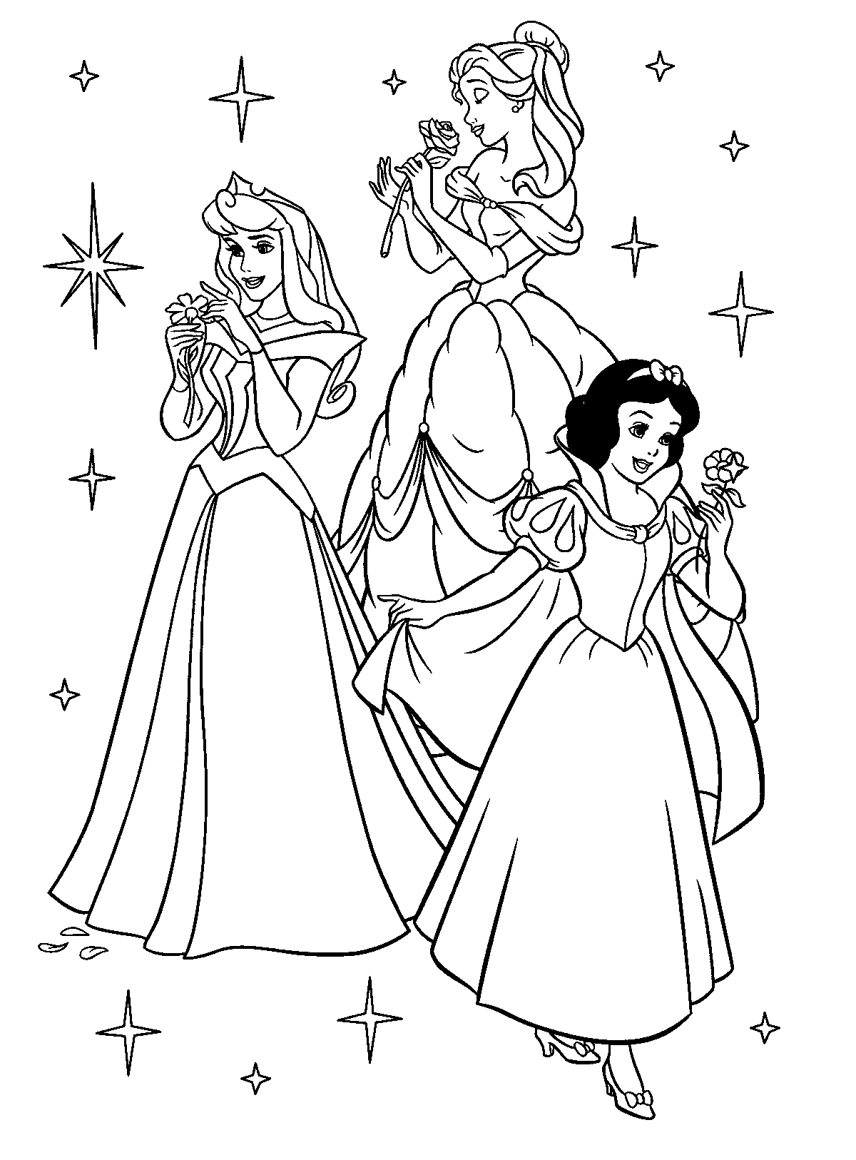 Disney Princess Colouring Only Coloring Pages