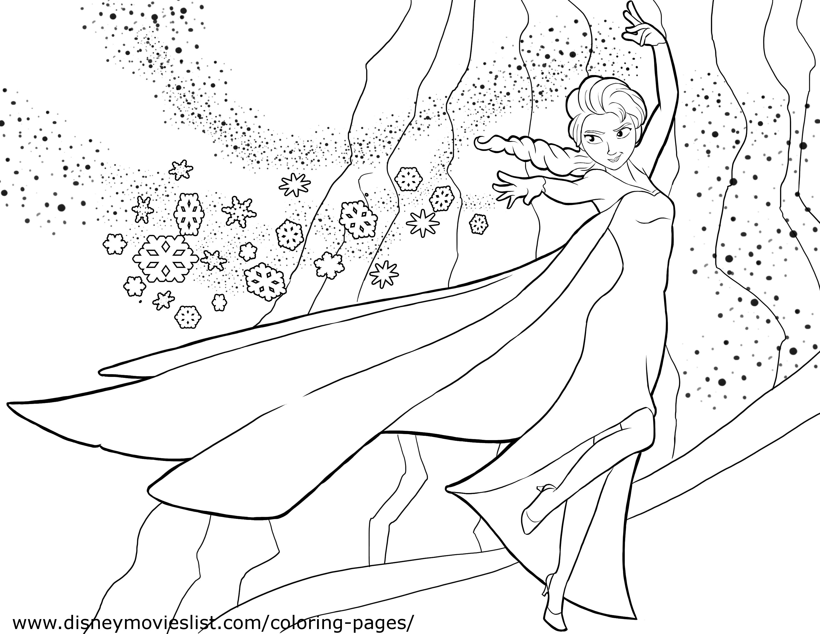 frozen coloring pages 02