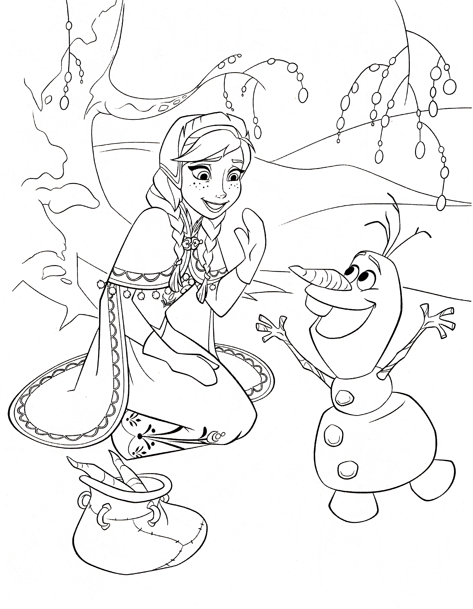 frozen coloring pages 05