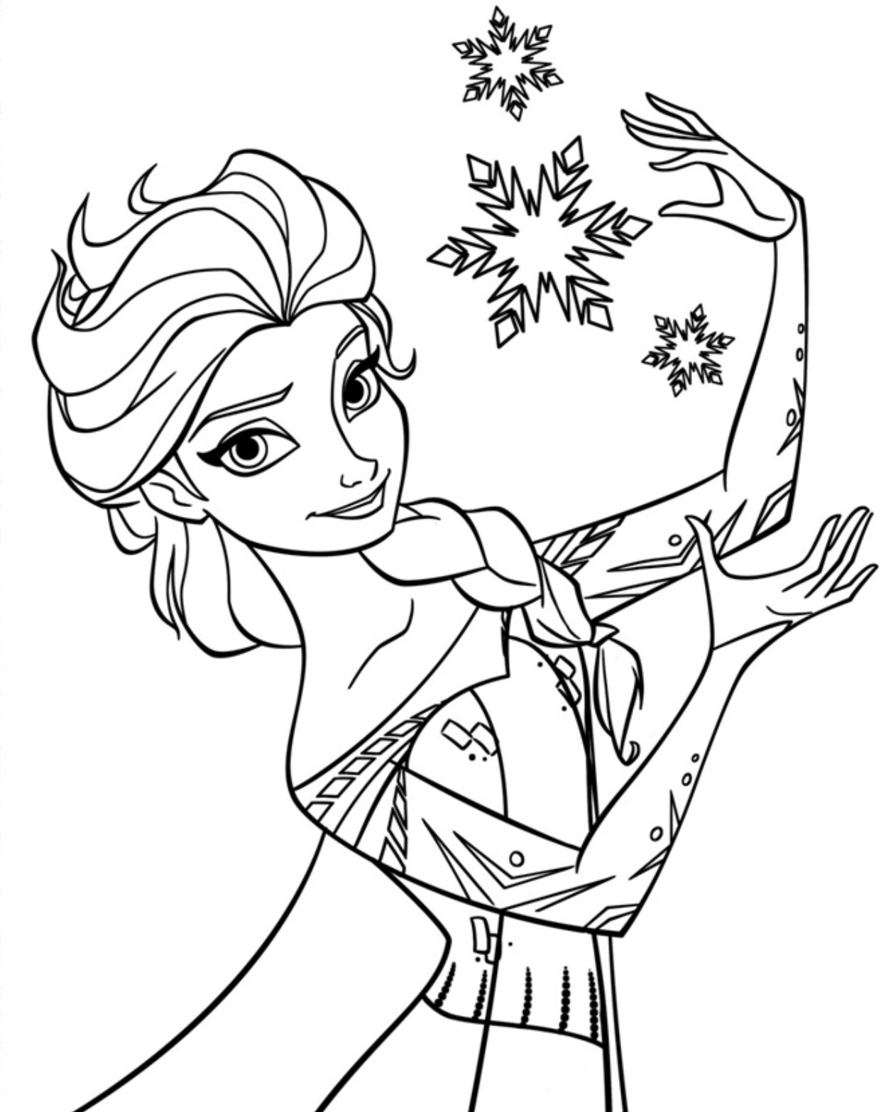 Frozen Paint Coloring Pages