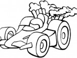 simple race car coloring pages
