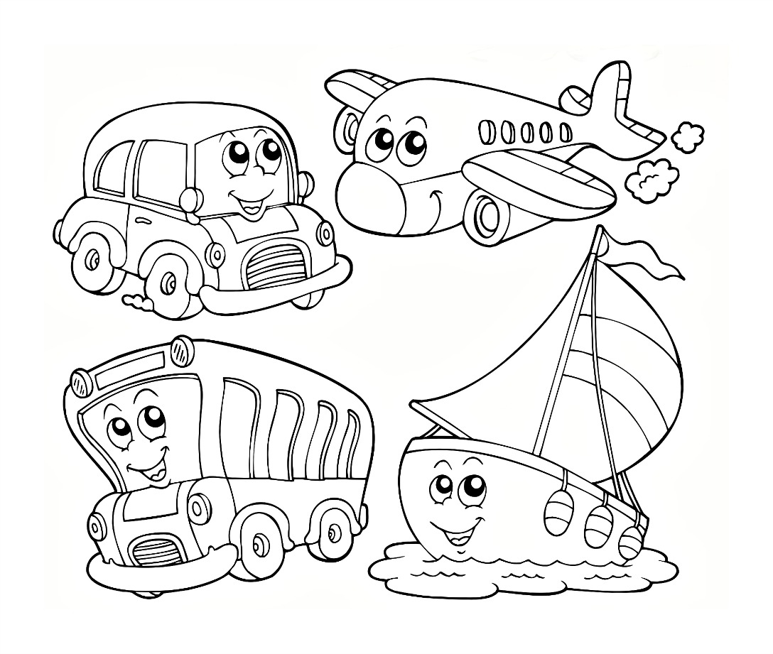 Transport Colouring Pages 01
