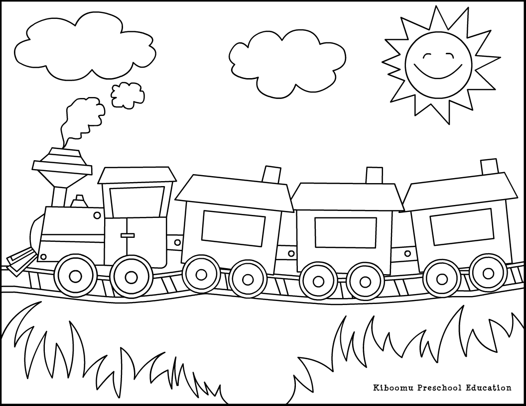 transportation coloring pages for kids - photo#3